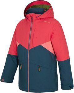 ziener ANIKO Ski-Jacke funktionelle Kinder Winter-Jacke mit Kapuze Blau/Rot, Größe:140