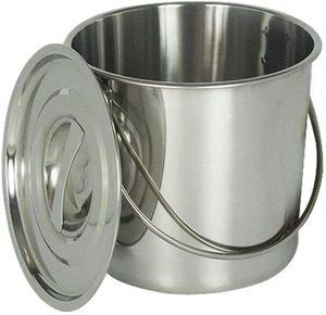 6L Edelstahleimer Kücheneimer EIS-Eimer Milcheimer Sektkübel Kücheneimer Futtereimer Sektkühle mit Deckel