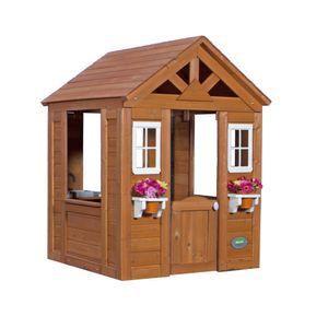 Backyard Discovery Spielhaus Timberlake aus Holz   Outdoor Kinderspielhaus für den Garten inklusive Zubehör   Gartenhaus für Kinder mit Fenstern