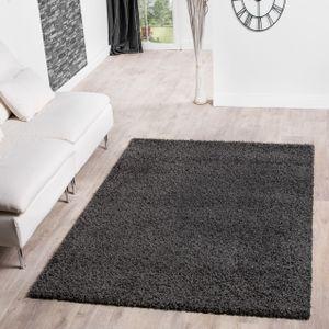 Shaggy Teppich Hochflor Langflor Teppiche Wohnzimmer Preishammer versch. Farben, Farbe:anthrazit, Größe:80x150 cm