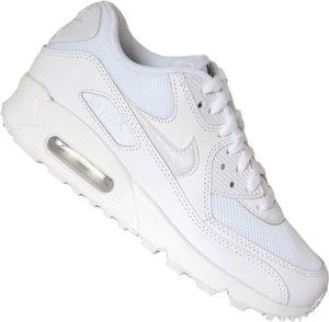 NIKE Air Max 90 Mesh Junior Kinder Sneaker Weiß Schuhe, Größe:38