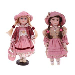 Porzellanpuppen Sammlerpuppen 30cm + 40cm Porzellan Puppe Mädchenpuppe Stehpuppe