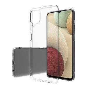 Schutzhülle Samsung Galaxy A12 Hülle Handy Cover Anti Shock Case Handyhülle Klar