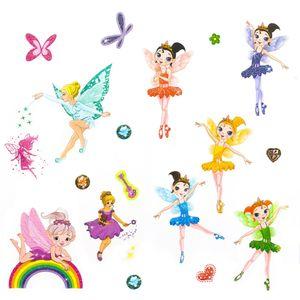 Oblique Unique Feen Elfen Ballerina Engel Tattoo Set mit Glitzereffekt Kinder Tattoos