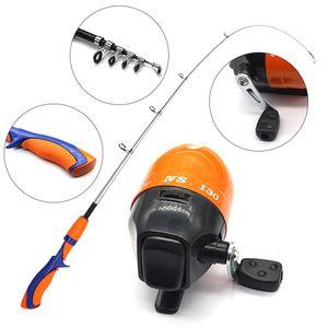 Mini Kinder Angelrute Angelrolle Kit Bestes Geschenk Für Jugendliche, Um Geduld Zu Kultivieren Orange