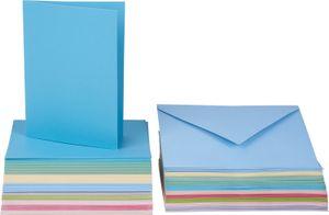 100-tlg. Mega-Karten-Set, pastellfarben, VBS Großhandelspackung