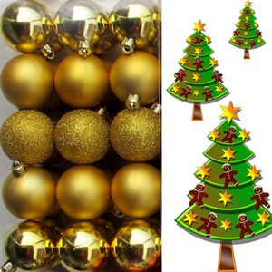 (WKG03) Weihnachtskugeln Christbaumkugeln 30er Gold