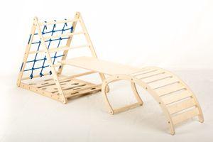 Affenling Set - dreiseitiges Kletterdreieck mit Rutsche & Wippe