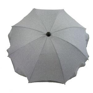 BAMBINIWELT Sonnenschirm für Kinderwagen Ø68cm UV-Schutz50+ Schirm Sonnensegel Sonnenschutz MELIERT hellgrau