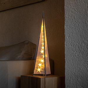 LED Pyramide, Weihnachtsbeleuchtung, Hologramm Effekt Weihnachten, Höhe ca. 60cm