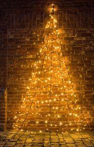 FHS LED-Tannenbaum Galaxy halbrund 300 cm 260 warmweiße LED zur Wandbefestigung Galaxy