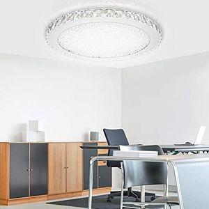 karpal LED Kristall Deckenleuchte Dimmbar 48w Deckenlampe Runde Deckenbeleuchtung fuer Flur Wohnzimmer Schlafzimmer Kueche Wandlampe Mit Fernbedienung [Energieklasse A++]¡