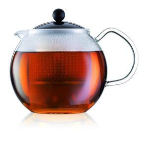 BODUM ASSAM Teekannenkolben-Kunststofffilter 1L schwarz