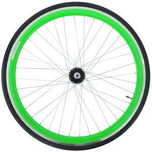 Galano Blade 700c Vorderrad Komplettrad Fixie Singlespeed Aluminium 28 Zoll, Farbe:grün