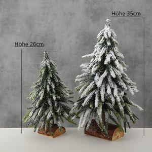 Tanne Weihnachtsbaum Christbaum Kunststoff grün beschneit ca. 26 cm
