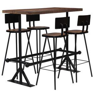 Bar-Set 5-tlg. Altholz Massiv