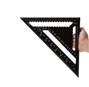 12 Zoll Metrische Anschlagwinkeldreieck Alu Layout Geo-Dreieck Winkelmesser NEU
