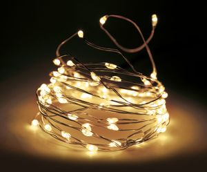 Lichterkette Draht 160 LED - warmweiß - Innen + Außen