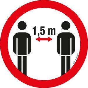 PVC-Aufkleber - Bitte 1,5 m Abstand halten - Gr. ca. 20cm - 307524