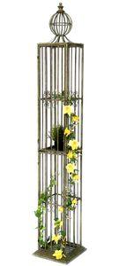 DanDiBo Rosensäule Rosenturm Rankhilfe Metall 230 cm Ranksäule 93970 Rankgitter Rosen Säule Garten