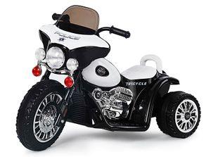 Harley Kindermotorrad Kinder Polizei Motorrad Elektromotorrad Kinderfahrzeug 25W Motor Schwarz