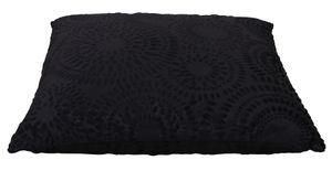 Kissenbezug 60x60 schwarz Retro Kreise Kissenhülle Dekokissen