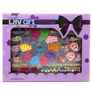 Bastelset Mädchen Perlen Armband Ketten basteln Schmuck Kinder DIY auffädeln