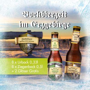 BockBox 16 Biere + 2 Gläser