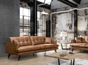 Sofa 3-Sitzer oder 4-Sitzer Microfaser braun KAWOLA braun 3 Sitzer HILLY