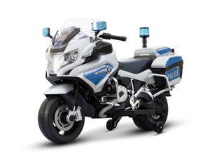BMW Kindermotorrad Polizei Elektromotorrad R 1200 RT-P 12V Weiß elektrisch Police