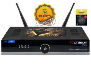 OCTAGON SF8008 4K UHD H.265 E2 Linux Wifi DVB-S2X DVB-C/T2 Combo Sat Receiver + 32 GB Micro SD