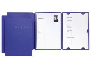 Bewerbungsset 3-tlg blau aus Karton