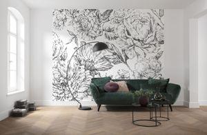"""Komar Vlies Fototapete """"Flowerbed"""" - Größe: 300 x 250 cm (Breite x Höhe), 6 Bahnen"""