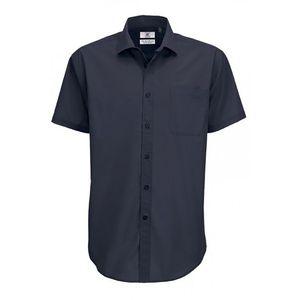 B&C Smart Herren Hemd, Kurzarm BC112 (3XL) (Marineblau)