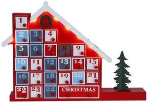 """Best Season Adventskalender """"Advent House"""" 8 warmwhite LED, 24 Schubfächer, ca.32 x 44 cm, batteriebtrieben, 270-57"""