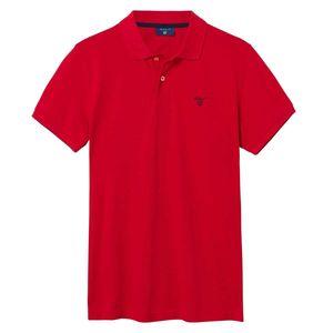 Gant Herren Poloshirt Summer Pique Rugger, Größe:XXXL, Farbe:Rot(620)