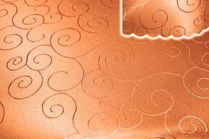 Tischdecke orange 160x260 cm eckig damast Ornamente bügelfrei fleckenabweisend