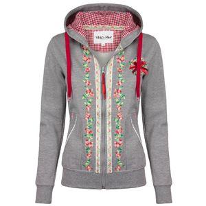 HAILYS Damen Trachten Sweatjacke, Farbe:grau, Größe:S