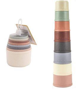 Bunte Stapelbecher mit 8 bunten Becher, Baby Spielzeug ab 6 Monaten