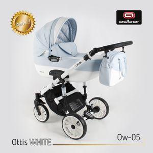 PolBaby Adbor Ottis White Kombikinderwagen 3in1 Auf Aluminiumstruktur-Ow-05