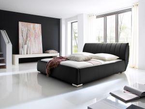 Meise Möbel 665-99-50000 Bern Polsterbett ; Farbe: Schwarz ; Maße (BxLxH): 180 cm x 200 cm x 97 cm