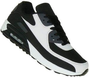 Neon Turnschuhe Schuhe Sneaker Boots Sportschuhe Luftpolstersohle Herren 009, Schuhgröße:43, Farbe:Weiss/Schwarz