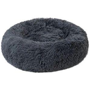 Hundebett, Katzenbett, Kissen Flauschig, Weich u Waschbar für Katzen Hunde, 110 cm, Graphitfarbe