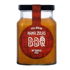 Mama Zula Wild African BBQ Sauce Hot Harissa Style im Glas 320ml