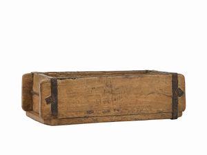 Ziegelform Holz Holzkiste Vintage Unikat 32x15x9,5cm