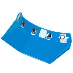Universal 5-Snap Visor fuer Open Face Motorradhelm Wind Flip Up Visor Shield Motorradhelm Cap Tongue