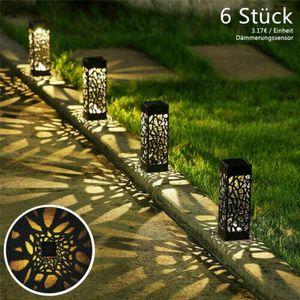 6x LED Solarlampe Solarleuchte Garten Außen Beleuchtung Outdoor Dekoration