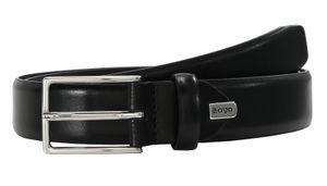 LLOYD Men's Belts Gürtel Herrengürtel Ledergürtel Schwarz 8377, Länge:125, Farbe:Schwarz