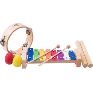 MUSIK INSTRUMENTEN SET KINDER Triangel Tabourin Xylophon Maraca Spielzeug