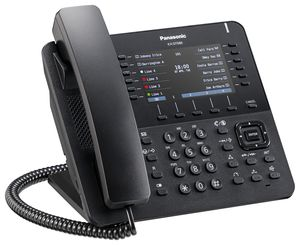 Panasonic KX-DT680NE-B HighEnd Digital Terminal schwarz - Systemtelefon - Switch